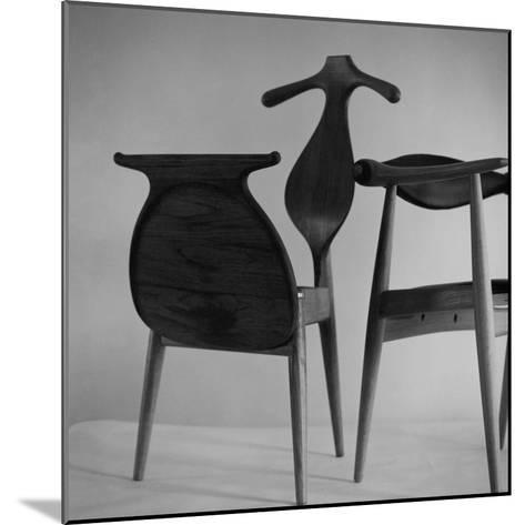 Handmade Chair and Clotheshorse by Hans Wegner of Denmark--Mounted Premium Photographic Print