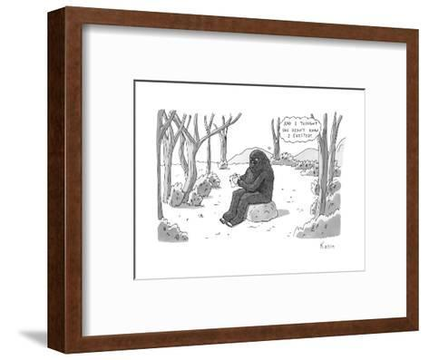 """And I thought she didn't know I existed!"" - New Yorker Cartoon-Zachary Kanin-Framed Art Print"