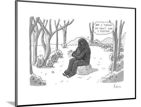 """And I thought she didn't know I existed!"" - New Yorker Cartoon-Zachary Kanin-Mounted Premium Giclee Print"