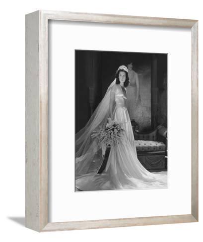 Mrs. John Simms Kelly (Brenda Frazier) in Wedding Gown--Framed Art Print
