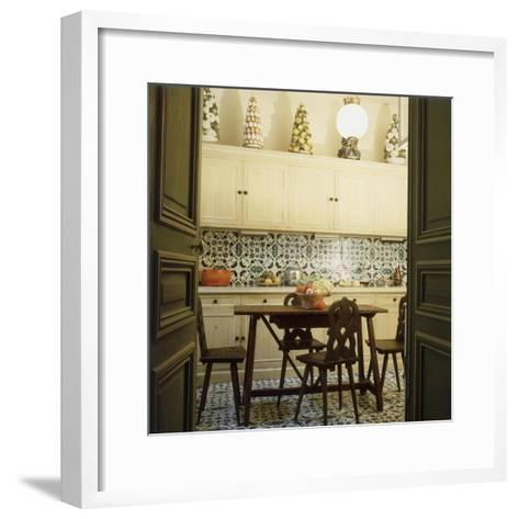 Duplicate of the Kitchen in Contessa Brandolini D'Adda's Paris Apartment--Framed Art Print