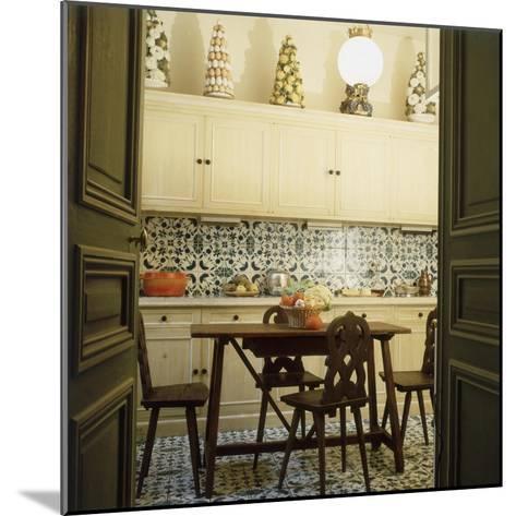 Duplicate of the Kitchen in Contessa Brandolini D'Adda's Paris Apartment--Mounted Premium Photographic Print