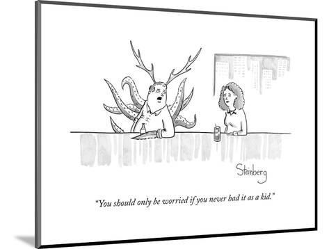 """""""You should only be worried if you never had it as a kid."""" - New Yorker Cartoon--Mounted Premium Giclee Print"""
