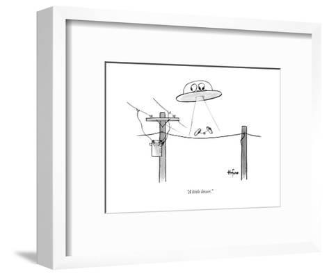 """""""A little lower."""" - New Yorker Cartoon--Framed Art Print"""