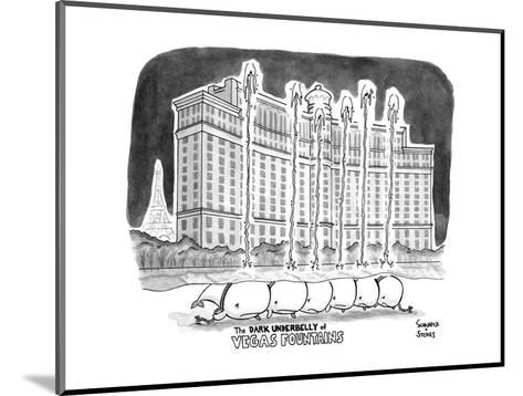 """TITLE """"The DARK UNDERBELLY of VEGAS FOUNTAINS"""" a line of whales lie in cha? - New Yorker Cartoon--Mounted Premium Giclee Print"""