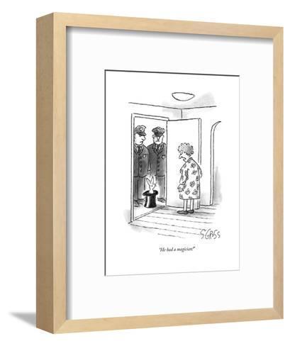"""""""He had a magician!"""" - New Yorker Cartoon--Framed Art Print"""