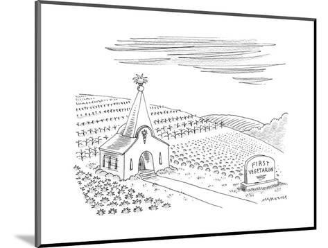 First Vegetarian church.  A pineapple instead of a cross at the steeple.  - New Yorker Cartoon--Mounted Premium Giclee Print