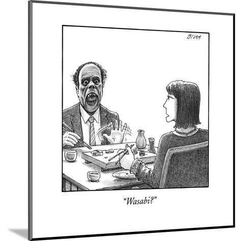 """Wasabi?"" - New Yorker Cartoon--Mounted Premium Giclee Print"