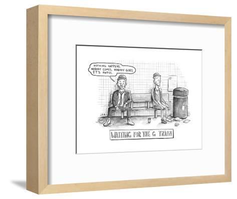 Waiting for the G Train -- Parody of Waiting for Godot. - New Yorker Cartoon--Framed Art Print
