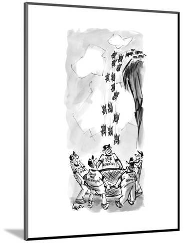 Save the Lemmings - New Yorker Cartoon--Mounted Premium Giclee Print