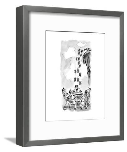 Save the Lemmings - New Yorker Cartoon--Framed Art Print