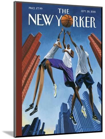 The New Yorker Cover - September 28, 2015--Mounted Premium Giclee Print