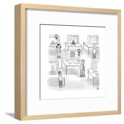 """At a science fair, first place goes to a child whose project reads """"How to... - New Yorker Cartoon--Framed Art Print"""