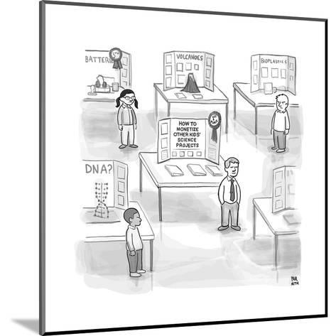 """At a science fair, first place goes to a child whose project reads """"How to... - New Yorker Cartoon--Mounted Premium Giclee Print"""