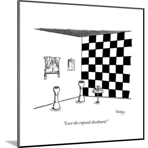 """Love the exposed chessboard."" - New Yorker Cartoon--Mounted Premium Giclee Print"
