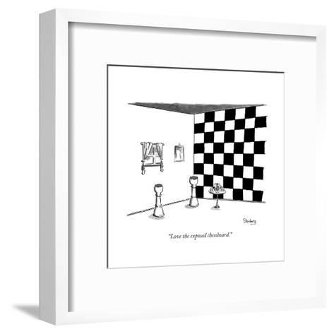"""Love the exposed chessboard."" - New Yorker Cartoon--Framed Art Print"