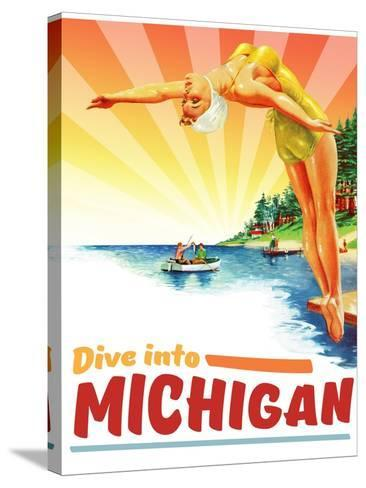 Michigan--Stretched Canvas Print