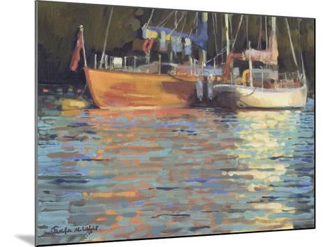 Afternoon Yacht Reflections-Jennifer Wright-Mounted Giclee Print