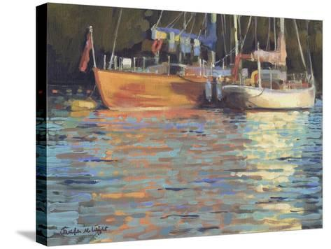 Afternoon Yacht Reflections-Jennifer Wright-Stretched Canvas Print