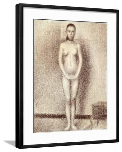 "Study for ""Les Poseuses"", 1886-Georges Seurat-Framed Art Print"