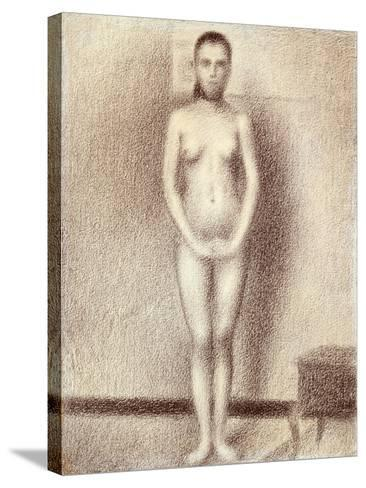 "Study for ""Les Poseuses"", 1886-Georges Seurat-Stretched Canvas Print"