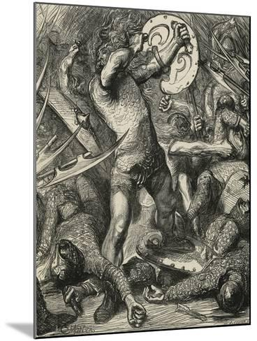 Hereward Cutting His Way Through the Norman Host-James Cooper-Mounted Giclee Print