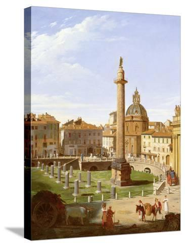 A View of Trajan's Forum, Rome, 1821-Sir Charles Lock Eastlake-Stretched Canvas Print