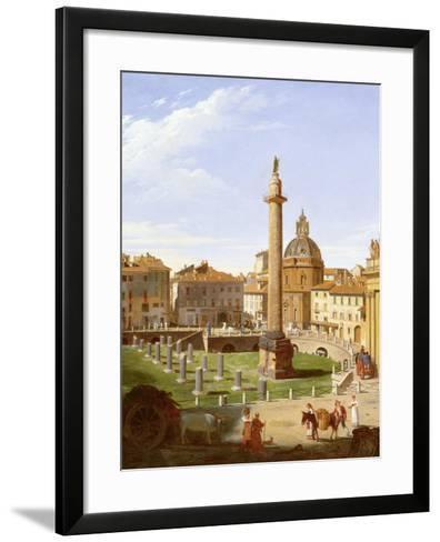 A View of Trajan's Forum, Rome, 1821-Sir Charles Lock Eastlake-Framed Art Print