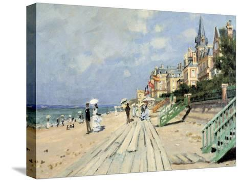 Beach at Trouville-Claude Monet-Stretched Canvas Print