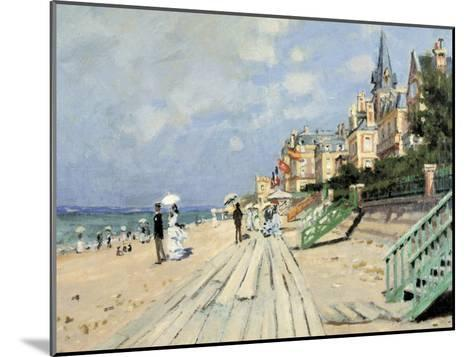 Beach at Trouville-Claude Monet-Mounted Giclee Print
