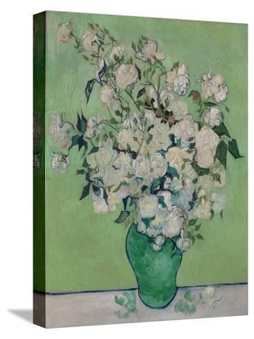A Vase of Roses, 1890-Vincent van Gogh-Stretched Canvas Print