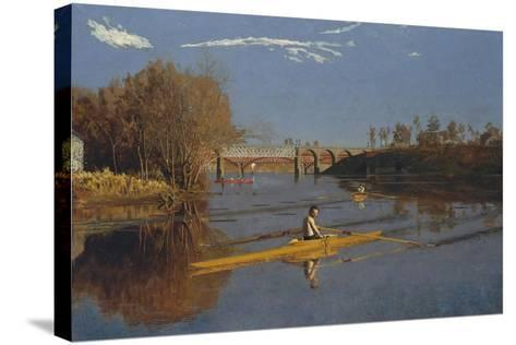 The Champion Single Sculls (Max Schmitt in a Single Scull), 1871-Thomas Cowperthwait Eakins-Stretched Canvas Print