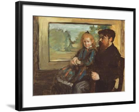 Henri Rouart and his Daughter Helene, 1871-72-Edgar Degas-Framed Art Print