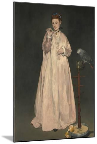 Young lady in 1866-Edouard Manet-Mounted Giclee Print