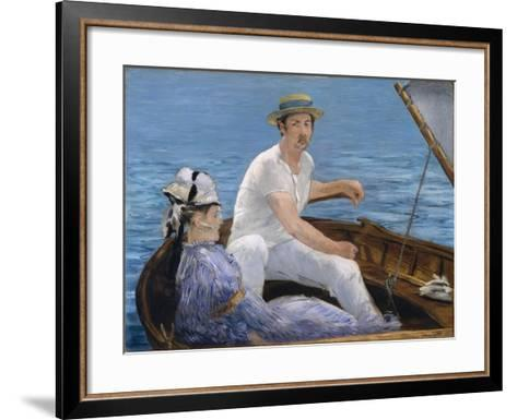 Boating, 1874-Edouard Manet-Framed Art Print