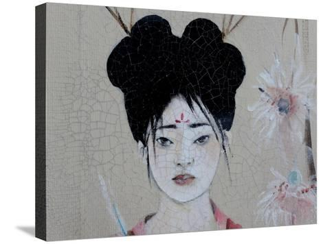 Chinese Women (Triptych) 2015 3 Detail-Susan Adams-Stretched Canvas Print