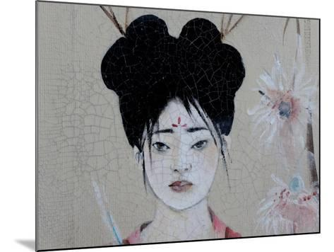 Chinese Women (Triptych) 2015 3 Detail-Susan Adams-Mounted Giclee Print
