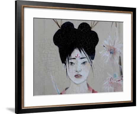 Chinese Women (Triptych) 2015 3 Detail-Susan Adams-Framed Art Print