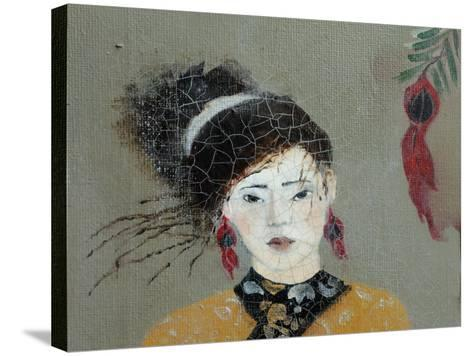 Qing Dynasty Women with Flowers, 2016 (Detail)-Susan Adams-Stretched Canvas Print