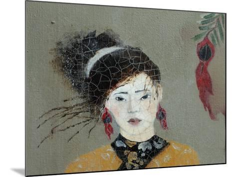 Qing Dynasty Women with Flowers, 2016 (Detail)-Susan Adams-Mounted Giclee Print