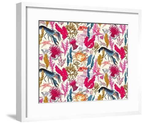 Sea Bed Repeat Pattern-Jacqueline Colley-Framed Art Print