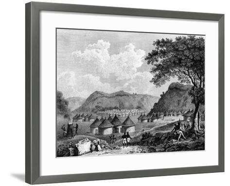 View of Kamalia Village from 'Travels in the Interior Districts of Africa', 1799-Mungo Park-Framed Art Print
