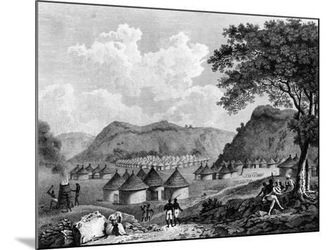 View of Kamalia Village from 'Travels in the Interior Districts of Africa', 1799-Mungo Park-Mounted Giclee Print