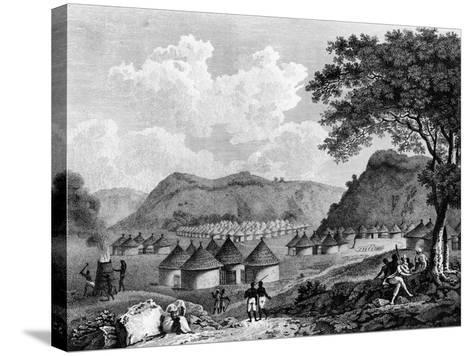 View of Kamalia Village from 'Travels in the Interior Districts of Africa', 1799-Mungo Park-Stretched Canvas Print