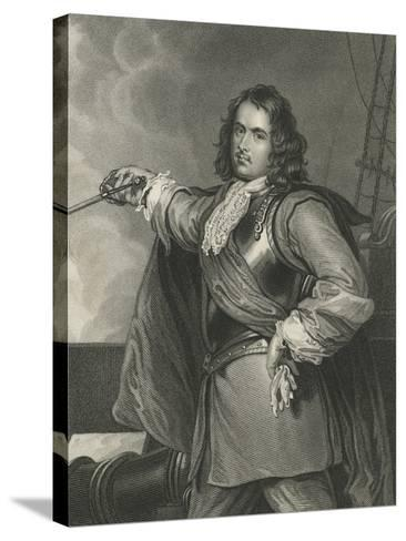 Admiral Blake-Henry Perronet Briggs-Stretched Canvas Print