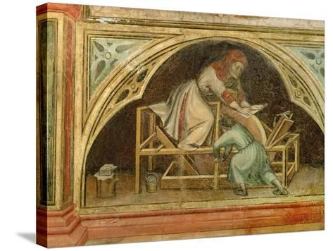 The Knife Grinder, from 'The Working World' cycle after Giotto, c.1450-Nicolo & Stefano Da Ferrara Miretto-Stretched Canvas Print