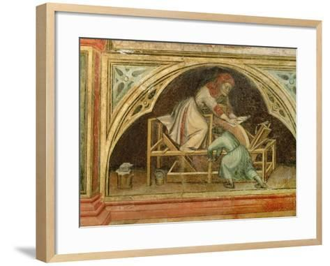 The Knife Grinder, from 'The Working World' cycle after Giotto, c.1450-Nicolo & Stefano Da Ferrara Miretto-Framed Art Print