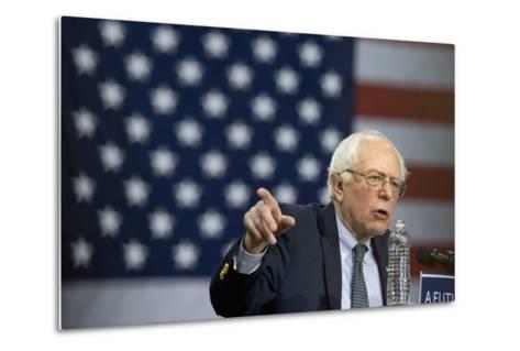 Campaign 2016 Trail - Bernie Sanders-Jacquelyn Martin-Metal Print
