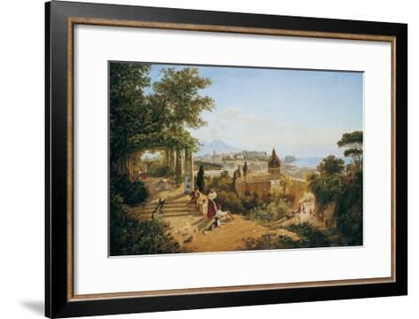 Naples Seen from the Slopes of the Vomero-Carl Wilhelm Goetzloff-Framed Art Print