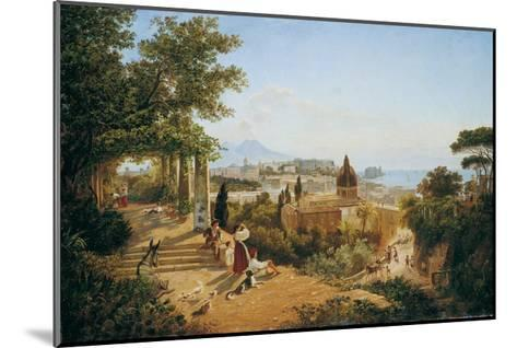 Naples Seen from the Slopes of the Vomero-Carl Wilhelm Goetzloff-Mounted Giclee Print